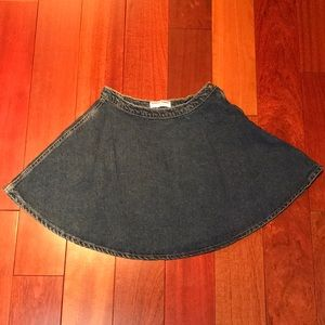 American Apparel side zip denim circle skirt